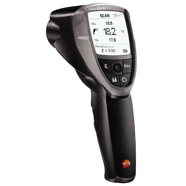 Testo 835-H1 infrared thermometer and moisture meter